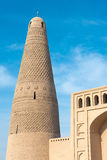 XINJIANG CHINY, Maj, - 03 2015: Emin minaret (Sugongta) sławny Obrazy Royalty Free