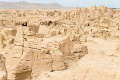 XINJIANG CHINY, Maj, - 04 2015: Miejsce Yar miasto (Jiaohe ruiny) Obrazy Stock