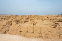 XINJIANG CHINY, Maj, - 04 2015: Miejsce Yar miasto (Jiaohe ruiny) Obraz Stock
