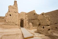 XINJIANG CHINY, Maj, - 04 2015: Miejsce Yar miasto (Jiaohe ruiny) Obrazy Royalty Free