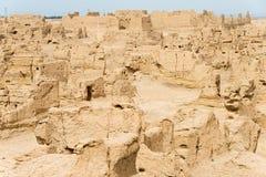 XINJIANG CHINY, Maj, - 04 2015: Miejsce Yar miasto (Jiaohe ruiny) Zdjęcie Stock