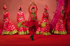 Xinjiang dance. Fast, enthusiastic, bold and unrestrained Stock Photo