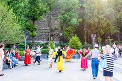 Xinjiang dance stock photo