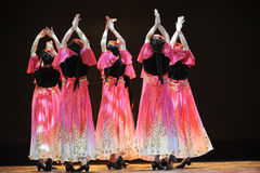 Xinjiang ethnic dance: to set off your hijab Stock Image