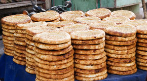 Xinjiang food. Baked bread of xinjiang province,china Royalty Free Stock Image