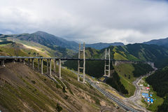 Xinjiang Guozigou highway bridge Stock Photography