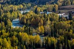 Xinjiang Hemu village scenery Stock Photos