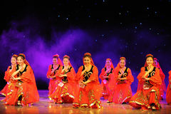 Xinjiang national Dance-The campus show Royalty Free Stock Image