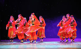 Xinjiang national Dance-The campus show Royalty Free Stock Photography