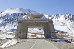 Xinjiang porslin: khunjerabpasserande royaltyfri foto