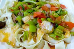 Xinjiang style noodles in China Stock Image