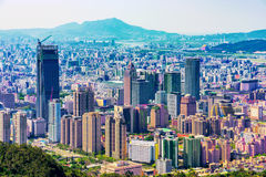 Xinyi pieniężny okręg i Taipei miasto Obrazy Royalty Free