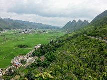Village in Xinyi Wanfenglin Scenic Area. Xinyi Wanfenglin Scenic Area-National geological park in Guizhou province, West China royalty free stock image