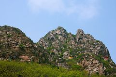Xinzheng first ancestor mountain. The first ancestor mountain, formerly known as the mount Zi, is the remaining vein of Songshan, located in Henan, Yuzhou Stock Photography
