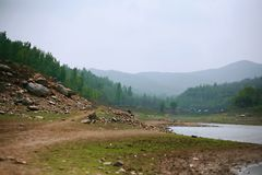 Xinzheng first ancestor mountain. The first ancestor mountain, formerly known as the mount Zi, is the remaining vein of Songshan, located in Henan, Yuzhou Stock Photos