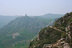 Xinzheng first ancestor mountain. The first ancestor mountain, formerly known as the mount Zi, is the remaining vein of Songshan, located in Henan, Yuzhou Royalty Free Stock Photo
