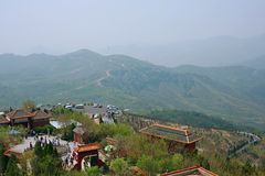 Xinzheng first ancestor mountain. The first ancestor mountain, formerly known as the mount Zi, is the remaining vein of Songshan, located in Henan, Yuzhou Stock Images