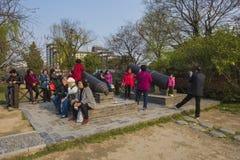 Xiong Chengji statue. Xiong Chengji 1887-1910, the late Qing Dynasty democratic revolutionaries. Word root, Jiangsu Oasis now Yangzhou people. Jiangnan artillery Stock Images