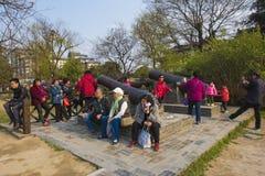 Xiong Chengji statue. Xiong Chengji 1887-1910, the late Qing Dynasty democratic revolutionaries. Word root, Jiangsu Oasis now Yangzhou people. Jiangnan artillery Royalty Free Stock Photo