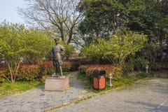 Xiong Chengji statue. Xiong Chengji 1887-1910, the late Qing Dynasty democratic revolutionaries. Word root, Jiangsu Oasis now Yangzhou people. Jiangnan artillery Stock Image