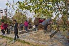 Xiong Chengji statue. Xiong Chengji 1887-1910, the late Qing Dynasty democratic revolutionaries. Word root, Jiangsu Oasis now Yangzhou people. Jiangnan artillery Royalty Free Stock Images