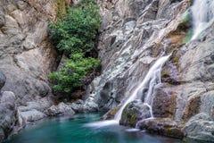 Xiropotamos vattenfall Royaltyfri Foto