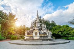 Xishuangbanna Baita Temple. White pagoda in Buddhist temple in Xishuangbanna, Sipsongpanna, or Sibsongbanna in the south of Yunnan province, People`s Republic of Stock Photo
