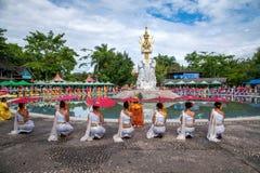 Xishuangbanna Dai Park Xiaoganlanba, bevor Spritzen quadratischer Wasser-Gott-erster König gespritzt wird Lizenzfreie Stockfotografie