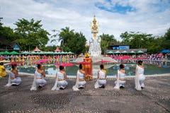Xishuangbanna Dai Park Xiaoganlanba before splashing splash Square Water God first King. Dai Songkran, also known as Buddha Day, Dai language called Sankan step royalty free stock photography