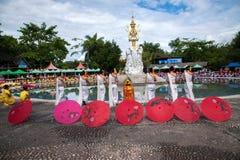 Xishuangbanna Dai Park Xiaoganlanba before splashing splash Square Water God first King. Dai Songkran, also known as Buddha Day, Dai language called Sankan step stock photo