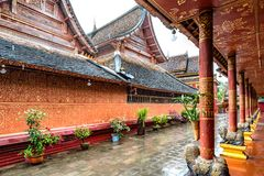 Xishuangbanna temple architecture. Beautiful buildings in ancient temples in Xishuangbanna, Yunnan, China Stock Image