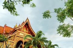 Xishuangbanna temple architecture Royalty Free Stock Image