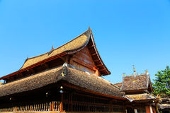 Xishuangbanna , Yunnan, China. The traditional residence of Dai nationality , one of the ethnic minorities in China, located   in Xishuangbanna , Yunnan, China Stock Photo