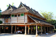 Xishuangbanna , Yunnan, China. The traditional residence of Dai nationality , one of the ethnic minorities in China, located in Xishuangbanna , Yunnan, China royalty free stock photography