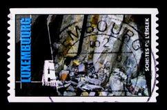 Xisto, serie das rochas, serviço do porte postal da classe de A, cerca de 2005 Foto de Stock Royalty Free