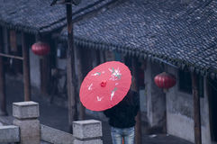 Free Xitang,an Ancient Town With Traditional Chinese Umbrell Stock Photography - 53758582