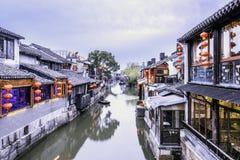 Xitang Ancient Watertown at night stock photos
