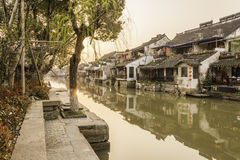Xitang Ancient Watertown scenery in the morning Stock Photo
