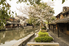 Xitang Ancient Watertown scenery in the morning Royalty Free Stock Photos