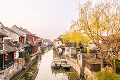 Xitang Ancient Watertown scenery in the morning royalty free stock images
