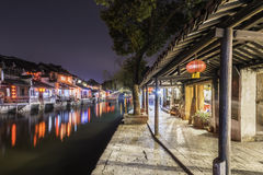 Xitang Ancient Watertown scenery at night Royalty Free Stock Images