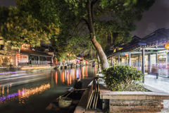 Xitang Ancient Watertown scenery at night Royalty Free Stock Photography