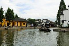 Xitang China water canals Royalty Free Stock Photo
