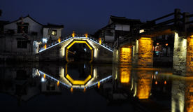 Xitang old town night. Xitang old town is a famous attraction around Shanghai city in China.It locates in north of Jiashan county. It attracts many people every Stock Image