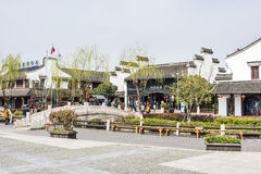 Xitang Town scenic spot entrance stock image