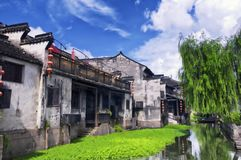 Xitang water Town China buildings Stock Photos