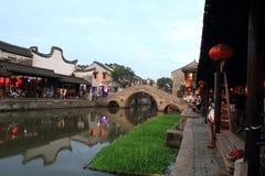 Xitang wody wioska Zdjęcie Royalty Free