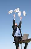 Éxito del hombre de negocios Foto de archivo libre de regalías
