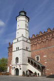 XIV century Town Hall on the market , Sandomierz, Poland Stock Photo