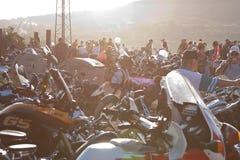 XIV demostración de la bici de Moto del International Imagen de archivo